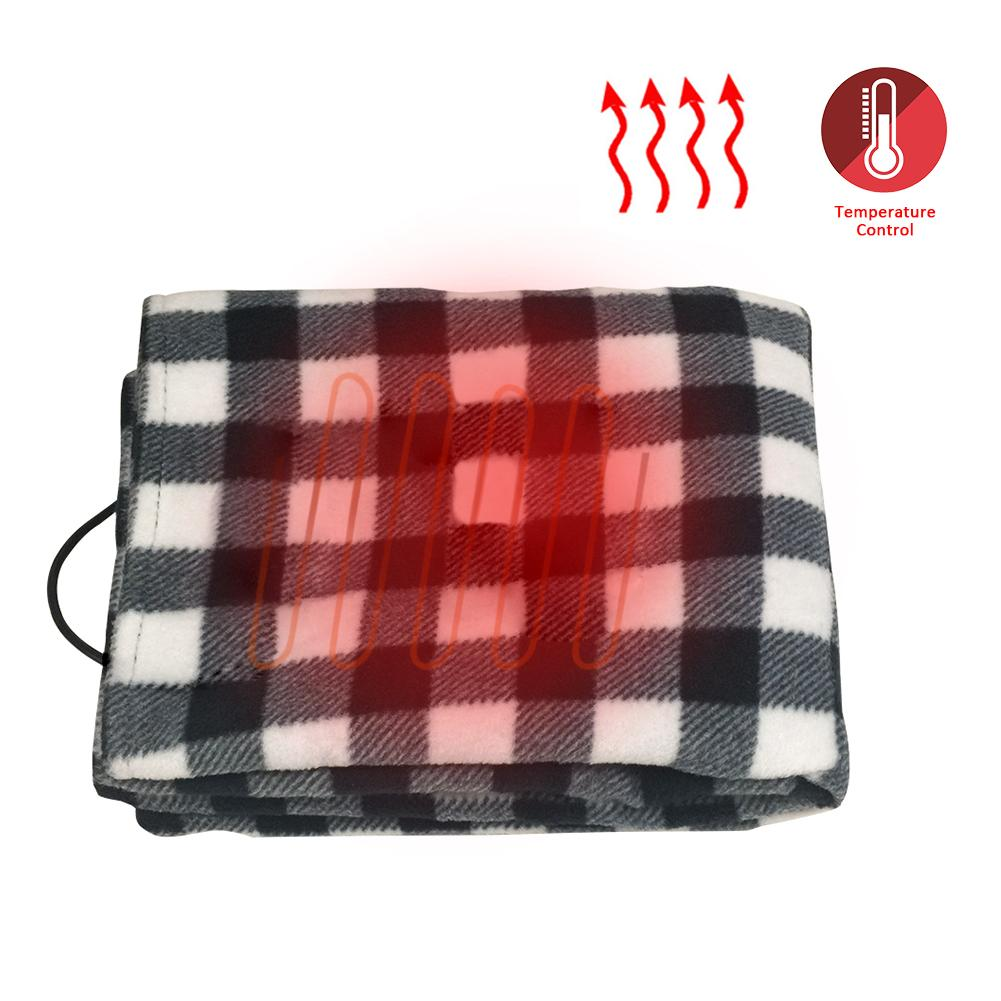 cheapest 145 100cm Lattice Energy Saving Warm 12V Car Heating Blanket Autumn And Winter Electric Blanket Car Accessories