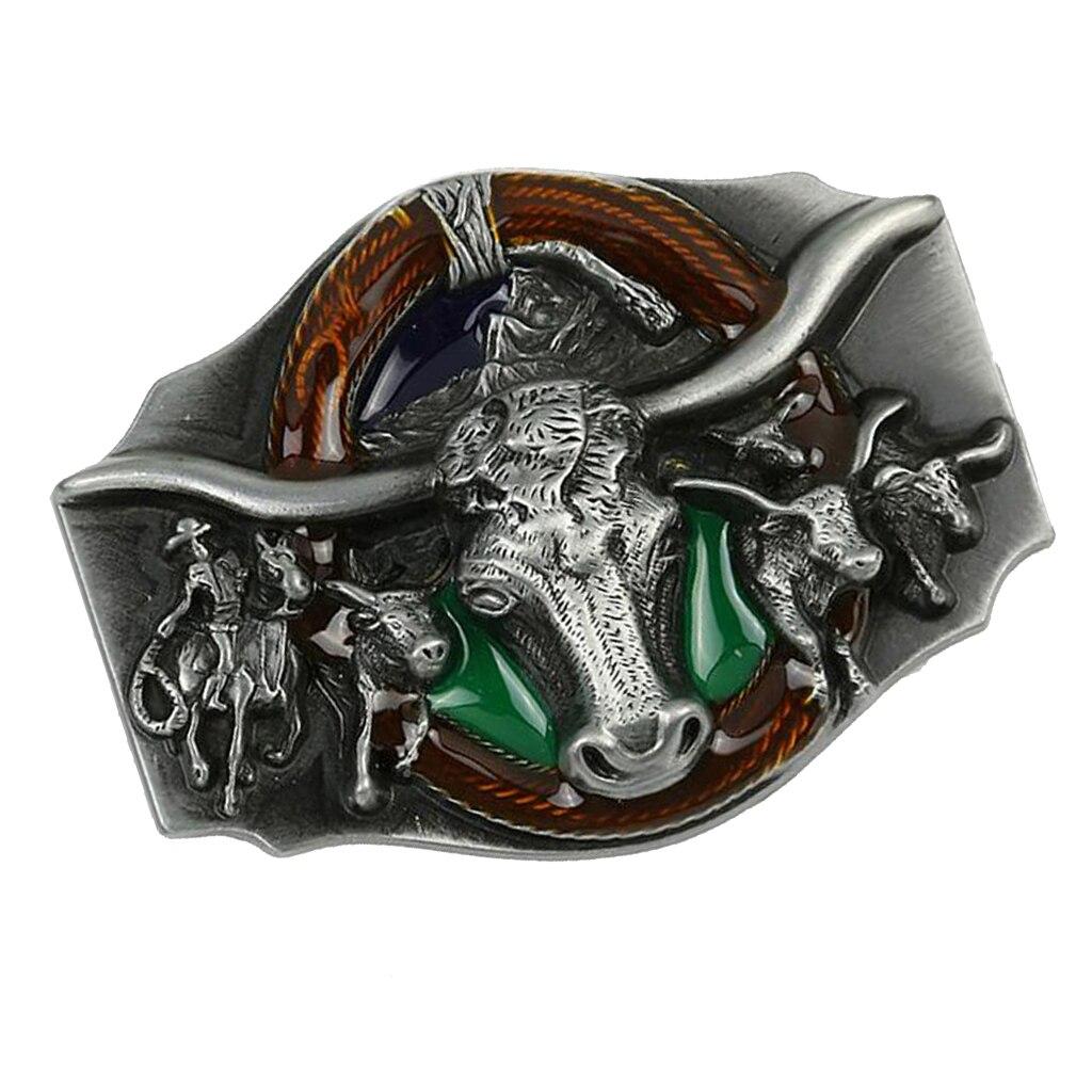 Hot Vintage Western Cowboy Men/'s Leather Belt Buckle Metal 15 Kinds of Pattern