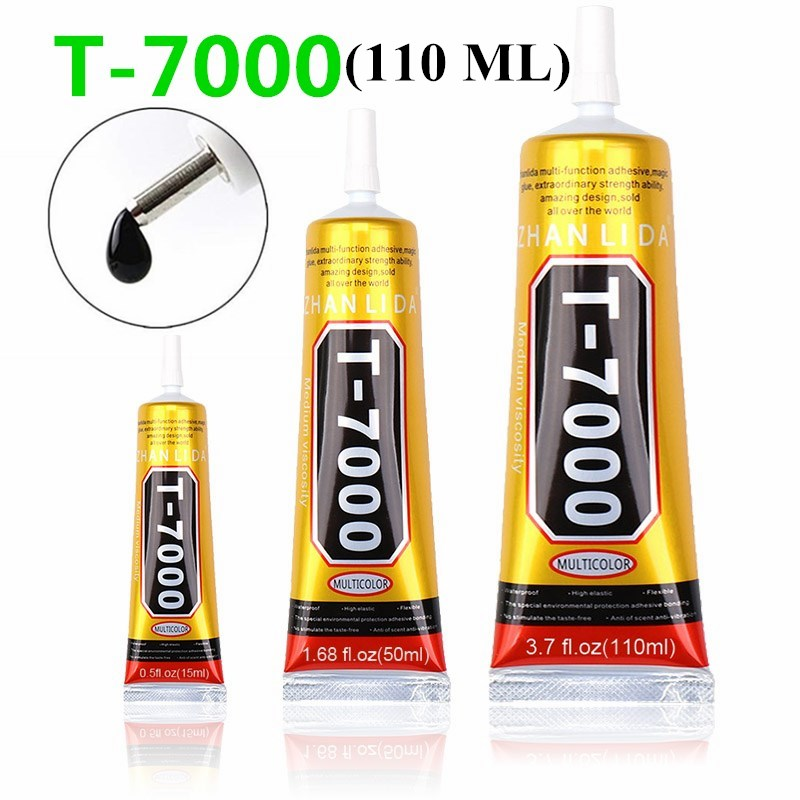 110 ml <font><b>T7000</b></font> Glues Multipurpose Adhesives Super Glues Black Liquid Epoxy Glues For DIY Crafts Glass Phone Case Metal Fabric image
