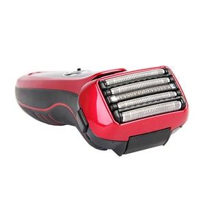 Image 1 - Panasonic masculino barbeador elétrico ES LV64 inteligente 5 flutuante cortador cabeça suporte corpo lavável recarregável baixa bateria exibição
