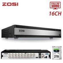 ZOSI 16 canaux 4-en-1 TVI AHD CVBS CVI 1080P CCTV vidéo enregistreur automatique carte mère DVR pour système de Surveillance vidéo DVR Kit