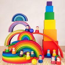 Большие радужные блоки toysparadise/полукруги строительные прямоугольная