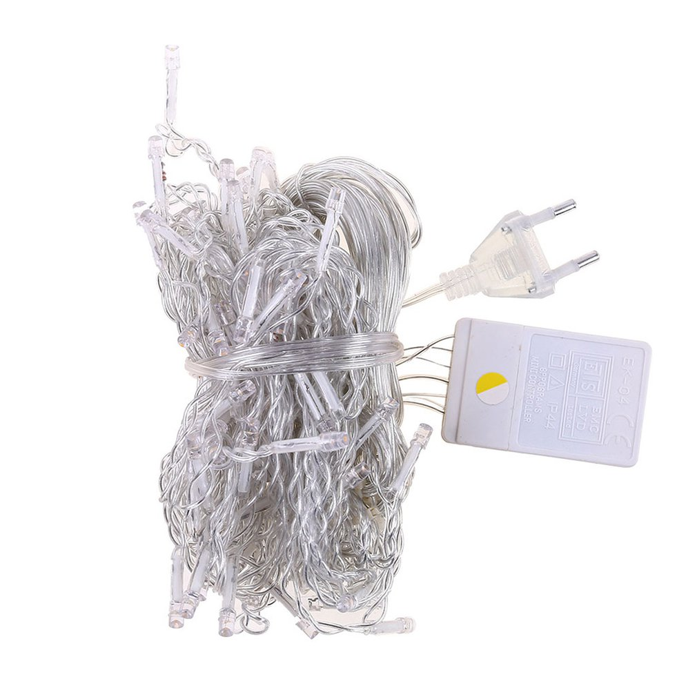 4 Meters 96 Lights Christmas Lights String 220v Ice Curtain Lights Decoration Light String Can Be Connected