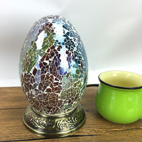 Egg Turkish Mosaic Lamps For Indoor home table decor handmade Mosaic Glass lampshade side table lamp retro Kids nightstand lamp
