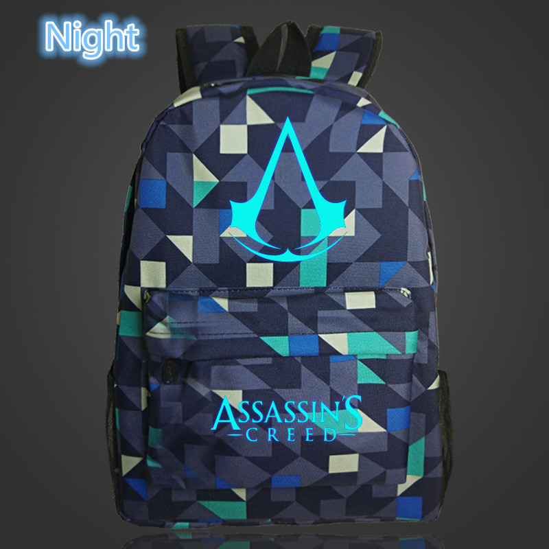 2019 Lumious Assassins Creed mochila Game Kids Baby's School bags for Teenagers Boys Girls student bagpack Bolsa escola image