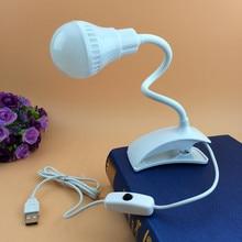 USB LED klips-On masa okuma lamba ışığı klip küçük LED masa lambası öğrenmek ofis USB mini gece lambası