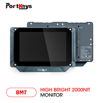 PortKeys BM7 7 inch Super Bright 2000nit HDMI/3G-SDI Full HD On-Camera Field Monitor with 3D LUT and HDR Preview,Video Monitor