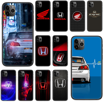 JDM Honda logo car cool Phone case For iphone 4 4s 5 5S SE 5C 6 6S 7 8 plus X XS XR 11 PRO MAX 2020 black cover painting back image