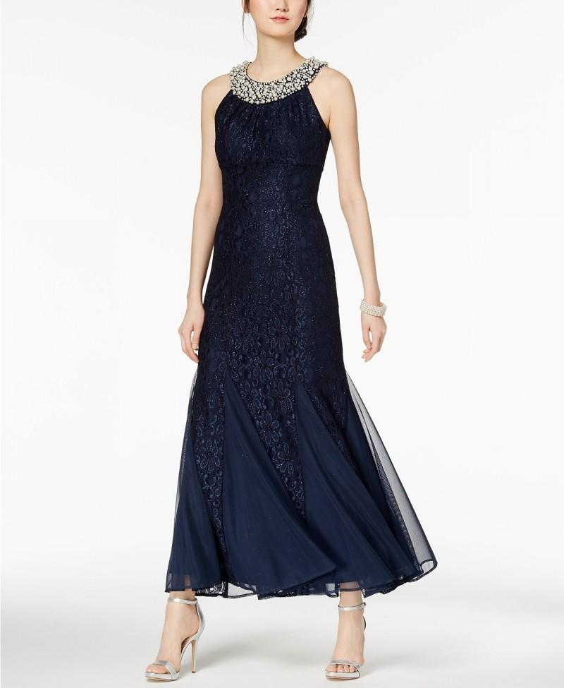Beaded Pearls Sequins Tea Length Lace Tiered Sleeveless Vestido Novia Mother's Evening Prom Gowns Mother Of The Bride Dresses