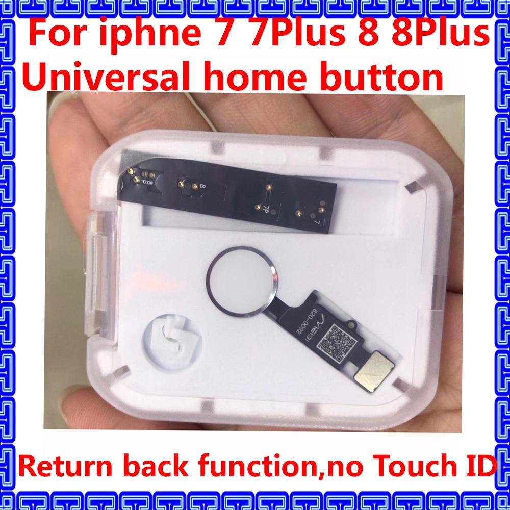 JC HX новейшая универсальная Кнопка Домой для iphone 7 7Plus 8 8 Plus Замена сломанной кнопки возврата гибкий кабель без touch ID|Шлейфы для мобильных телефонов| | АлиЭкспресс