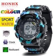 HONHX Digital Watch El light For Night Waterproof Men's Spor