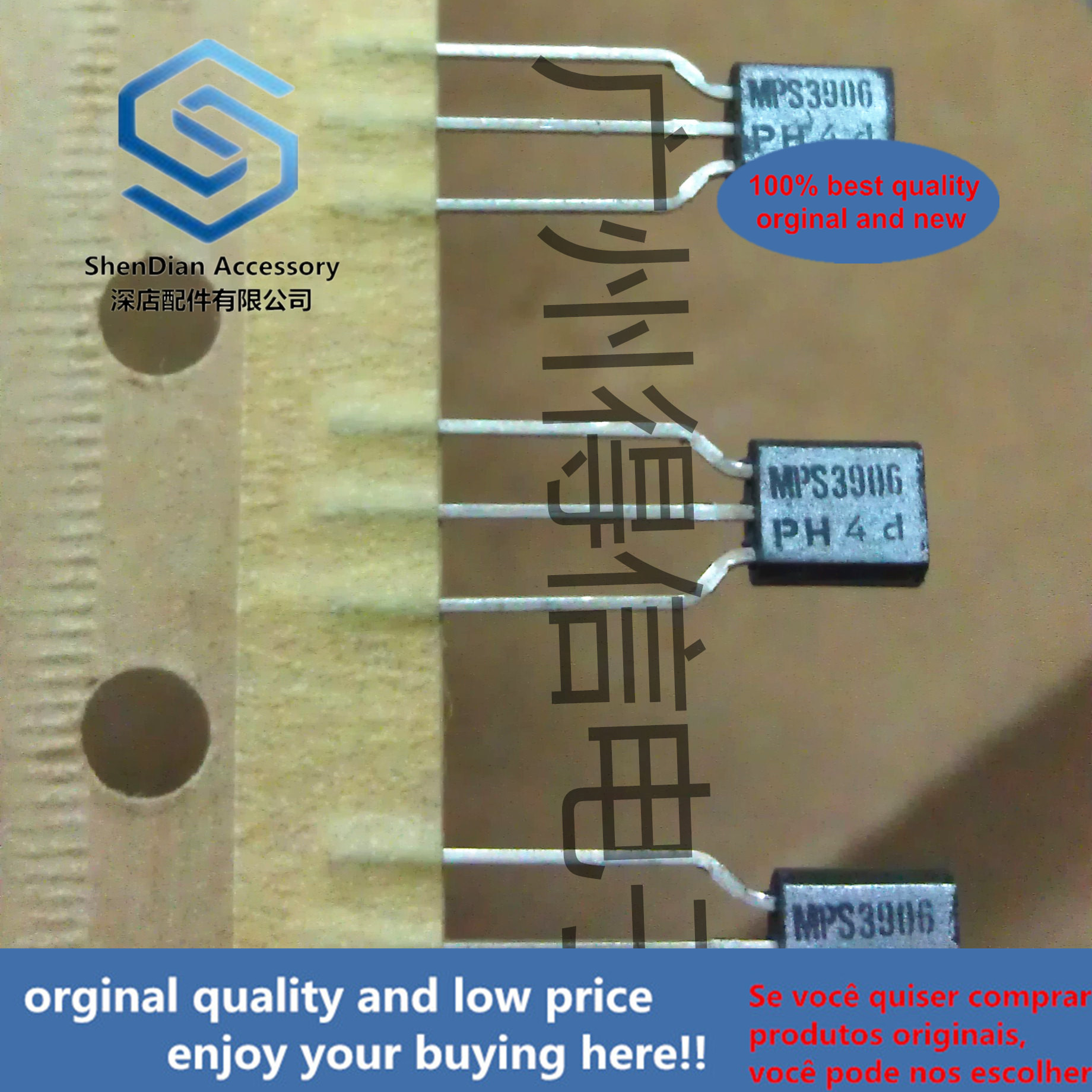 30pcs 100% Orginal New MPS3906 2N3906 TO-92 General Purpose Transistor(PNP Silicon) Real Photo