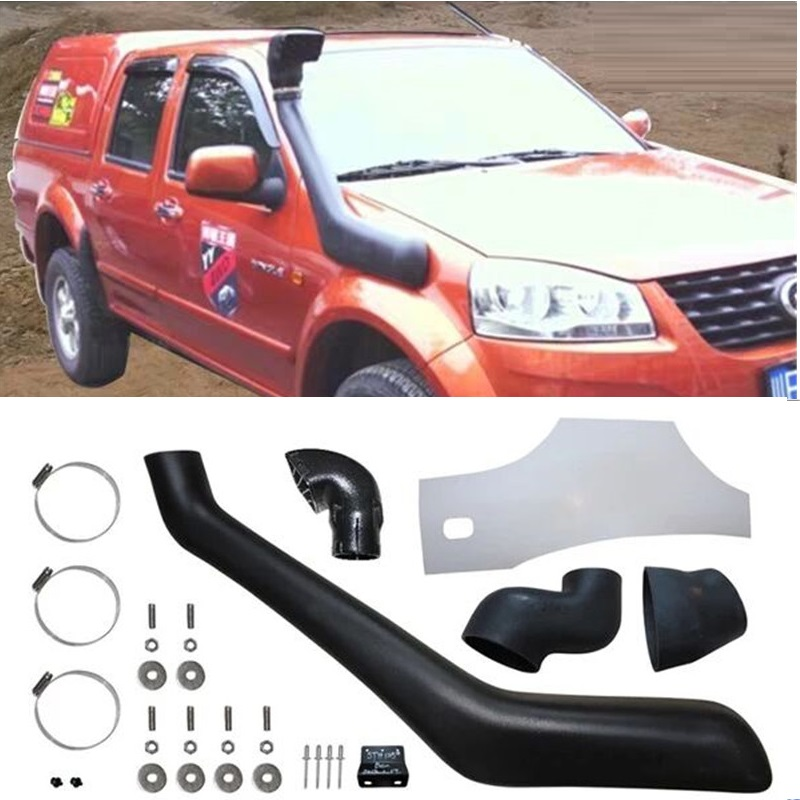 EXTERIOR AUTO ACCESSORIES 4X4 CAR PARTS AIR INTAKE PIPE TUBES SNORKEL FIT FOR GREAT WALL WINGLE <font><b>3</b></font> WINGLE 5 PICKUP CAR AIR INTAKE image