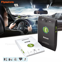 Car Visor On-board Bluetooth Car Kit MP3 Music Player Multipoint Speaker Phone 4.1 Wireless Handsfree for Earphone Smartphone(China)