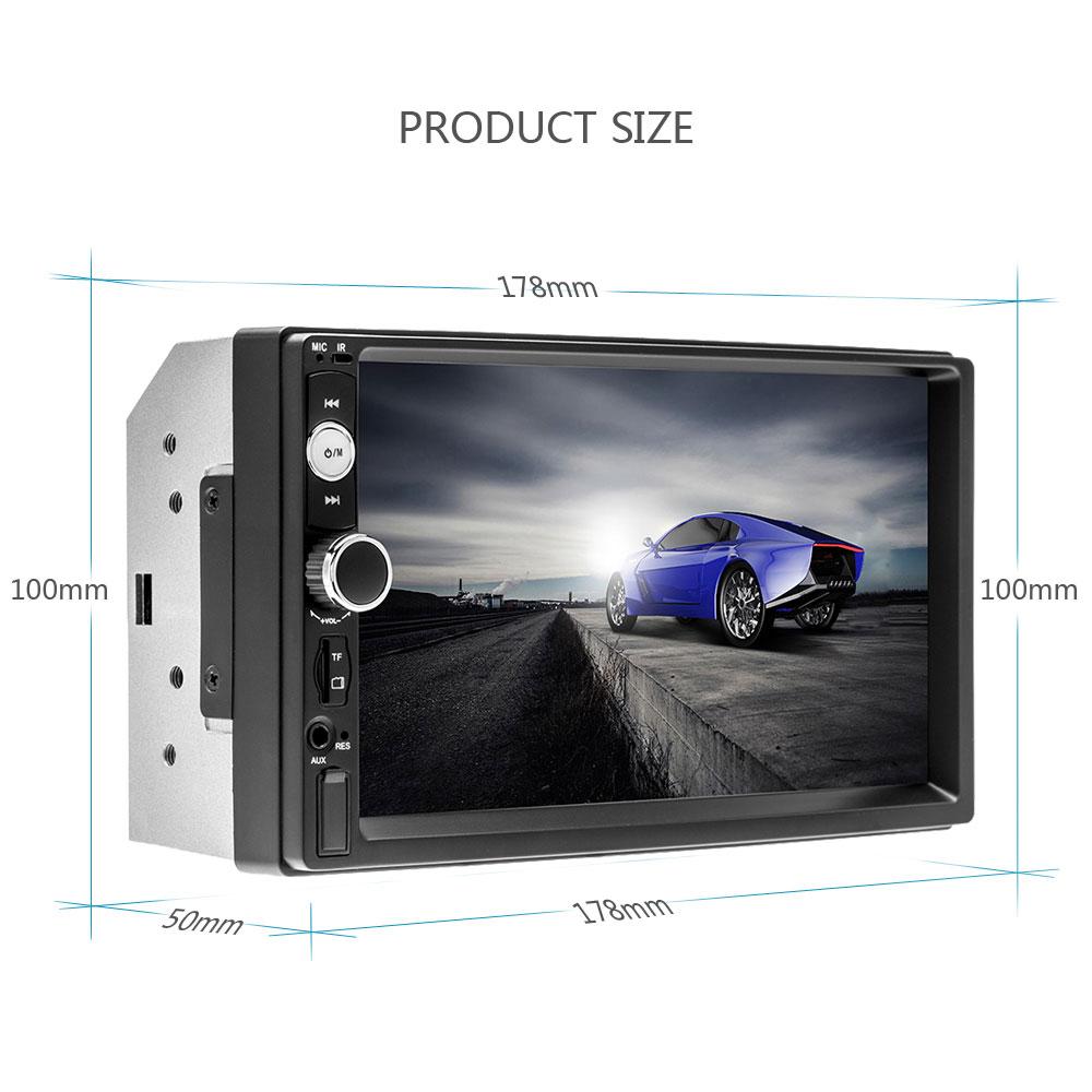 "Podofo 2 Din Car Radio 7"" HD Autoradio Multimedia Player 2DIN Touch Screen Auto Audio Car Stereo MP5 Bluetooth USB TF FM Camera"