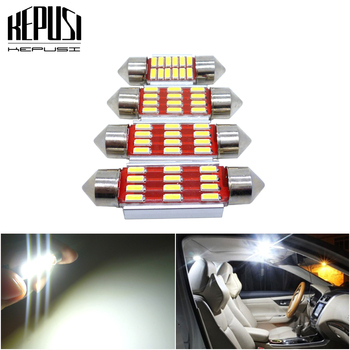 2Pcs LED Light C5W Canbus No Error C10W LED Lights License Plate Light for Mercedes Benz W210 W211 W203 W208 W209 W169 AMG CLK image