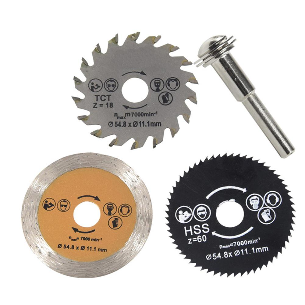 3pcs/set High Speed Steel Saw Blade Set Metal Cutting Discs Electric Drill Parts Woodworking Tool