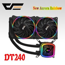 DarkFlash 愛国者 CPU 水クーラー 120 ミリメートルミュート PC ファン液体流体冷却ラジエーターアルミ水クーラーラジエーターインテル/ AMD サポート