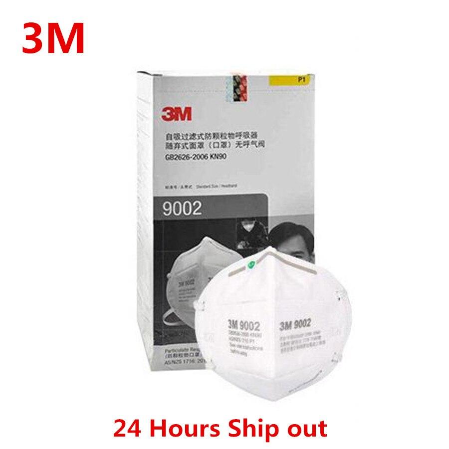 3M 9002 Dust Mask Folding Dust Mask Anti-pm2.5 Respirator Anti-fog Masks  Safety Mask LT024