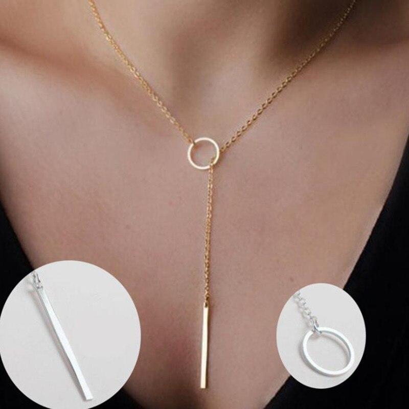 Лидер продаж, длинная цепочка на шею, ожерелья, колье, украшения, Женское Ожерелье-чокер, золотистое и серебристое ожерелье для женщин