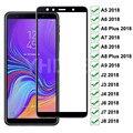 Защитное стекло 99D для Samsung Galaxy A6 A8 J4 J6 Plus 2018 A5 A7 A9 J2 J3 J7 J8 2018, закаленное стекло, защитная пленка для экрана