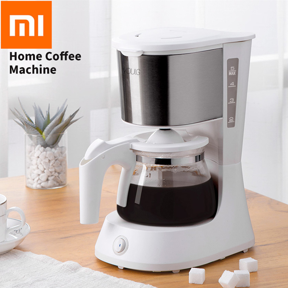 Xiaomi Coffee Machine 220V Espresso Maker With 652ml Glass Kettle Coffee Powder Filter Anti-Drip Insulation Teapot From Youpin