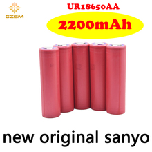 GZSM 18650 battery for Sanyo UR18650AA rechargeable 2200mAh 3.6V 5A For replacement