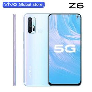 Оригинальный Новый vivo Z6 5G Смартфон Snapdragon 765G 6GB 128GB 5000mAh аккумулятор 44W Dash зарядка 48,0 МП 4 тыловые камеры телефон