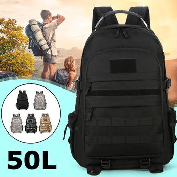 Outdoor Tactical Camouflage Backpack 50L Large Capacity Backpack Camping Hiking Cloth Oxford Travel Backpack Waterproof Y1W9 1000d tactical backpack military 50l nylon large capacity rucksack mochila for men outdoor travel hiking hunting camping man bag