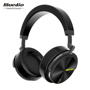 Bluedio T5 HiFi Active Noise Cancelling headphones wireless bluetooth Over ear headset with microphone for phones & music(China)