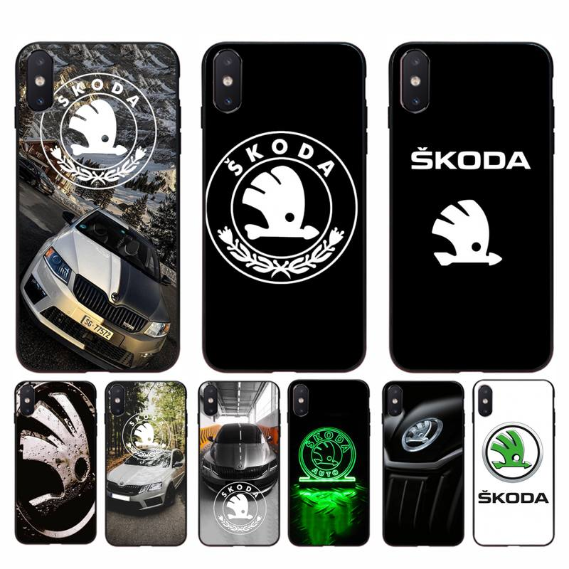 Babaite Super Skoda Car Logo Bling Cute Phone Case for iphone 11 Pro Max X XS MAX 6 6s 7 8 plus 5 5S 5SE XR SE2020