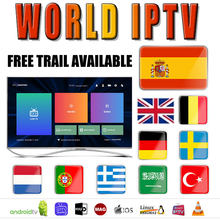 Abonnement Stable 1 an monde IPTV France pologne avec 4K HEVC VODS pour Xtream Code m3u Smart IPTV Smarters Pro Android TV Box(China)
