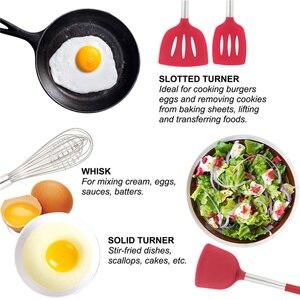 Image 4 - 새로운 주방 용품 세트 9/15Pcs 요리 도구 실리콘 스테인레스 스틸 비 스틱 주걱 스토리지 박스 주걱 주방 도구