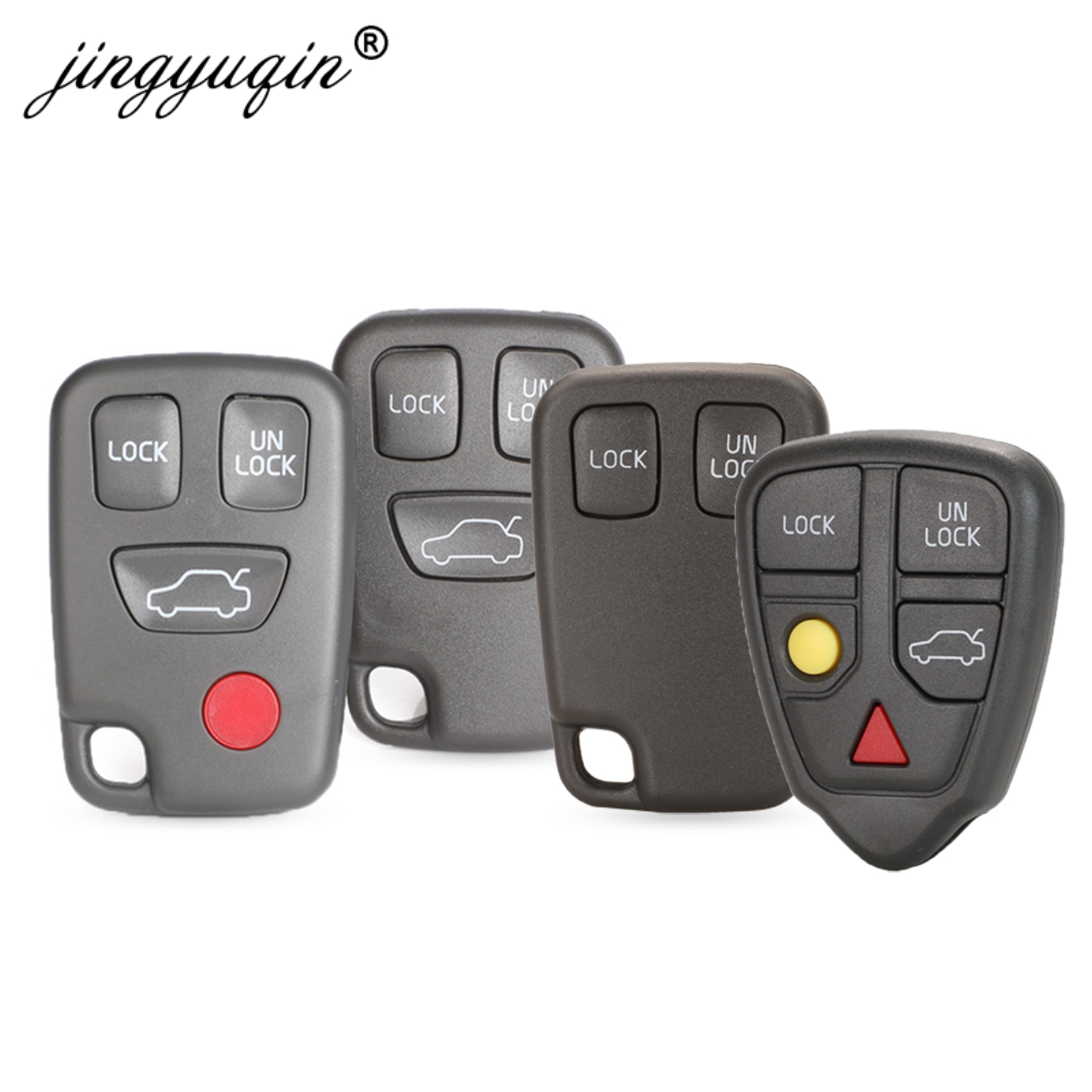 jingyuqin Remote Fob Car Key Shell Case Replacement 2/3/4/5 Butto For VOLVO S70 V70 C70 S40 V40 1998-2005 Auto Key Cover Housing
