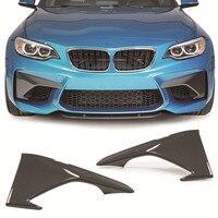 Bir stil karbon fiber ön Splitter 1pair BMW için Fit F87 M2