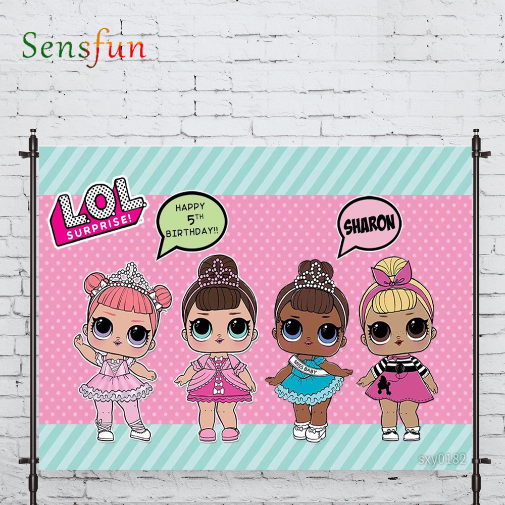 Sensfun new photo backdrop popular doll Pink birthday princess background nature photocall photo studio shoot prop|Background| |  - title=