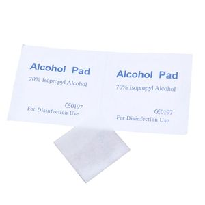 Image 4 - 100Pcs/Box Alcohol Wipe Clean Pad Medical Cotton Swab Sachet Antibacterial Tool Cleanser Cotton Buds Tip For Medical Sticks