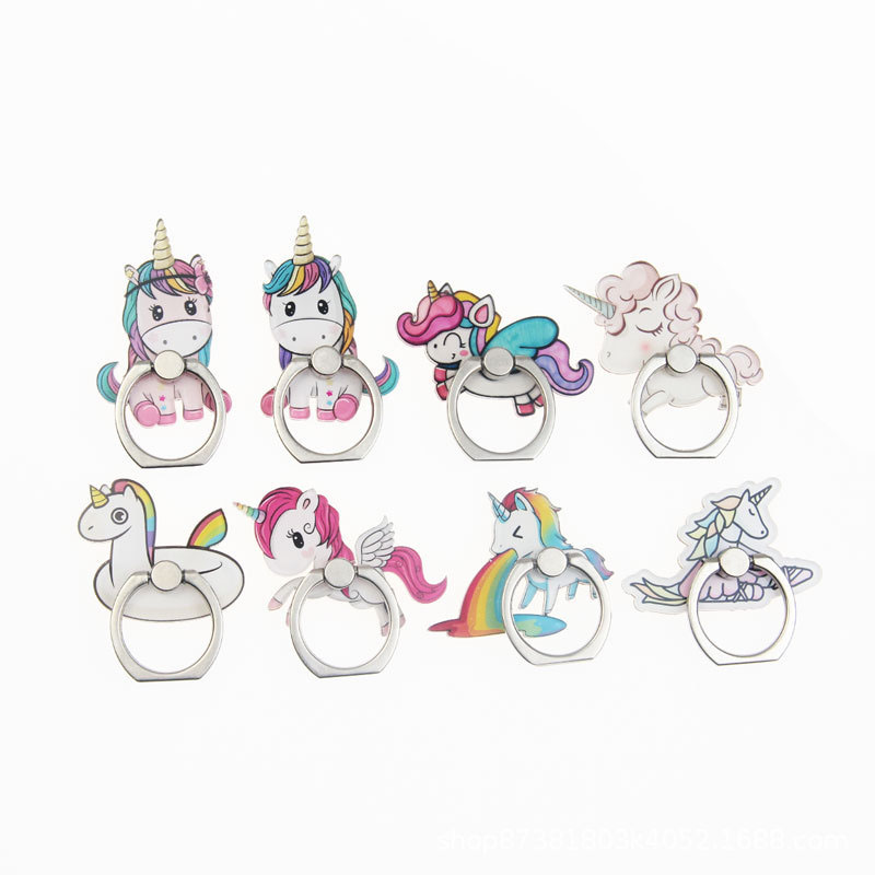Universal Phone Ring Holder Mobile Phone Holder Stand Cute Unicorns Finger Ring Holder Suporte Celular For IPhone Samsung Table