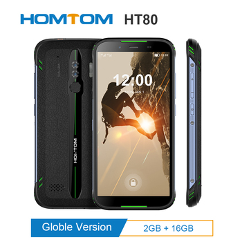 """HOMTOM HT80 IP68 Waterproof Smartphone 4G LTE Android 10.0 5.5"""" MT6737 NFC function Wireless fast charge SOS Mobile phone new 1"""