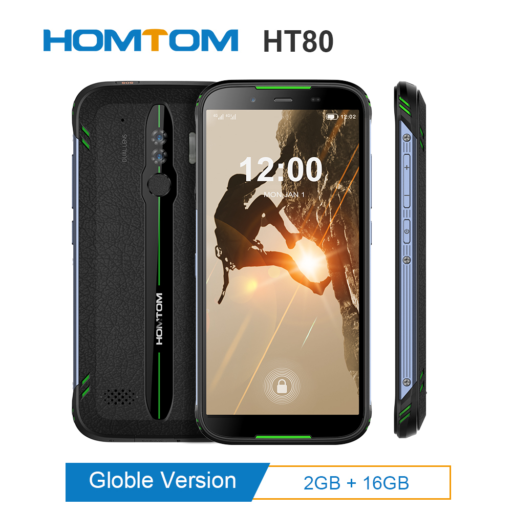 HOMTOM HT80 IP68 Waterproof Smartphone 4G LTE Android 10.0 5.5