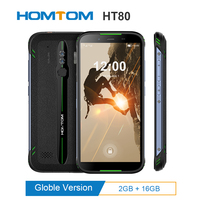 """HOMTOM HT80 IP68 Waterproof Smartphone 4G LTE Android 10.0 5.5"""" MT6737 NFC function Wireless fast charge SOS Mobile phone new