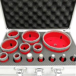 Image 3 - SHDIATOOL 1 סט/13pcs M14 חוט ואקום Brazed יהלומי תרגיל ליבה עם תיבת גרניט שיש קידוח קצת קרמיקה חור מסור