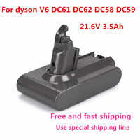 21,6 V 3500mAh batería de repuesto para Dyson Li-ion aspiradora DC58 DC61 DC62 V6 965874-02 Animal DC72 de batería