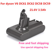 21.6V 3500mAh Replacement Battery for Dyson Li ion Vacuum Cleaner DC58 DC61 DC62 V6 965874 02 Animal DC72 Handheld Battery