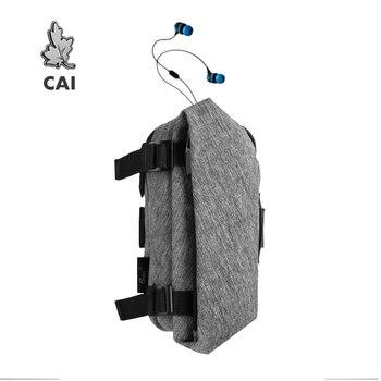 Bolso deportivo CAI para hombre y mujer, mochila para el brazo para correr en la cintura, con soporte para teléfono móvil de 6 pulgadas, bolsas impermeables antiarrugas para auriculares y Mujer