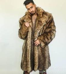 Мужская куртка из искусственной норки, свободная и теплая, с мехом, на осень и зиму