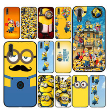 Cute Minions cartoon Cases For Huawei Honor V9 V10 8 9 10 8X 5A 7A 5X Play Lite TPU Cover(China)