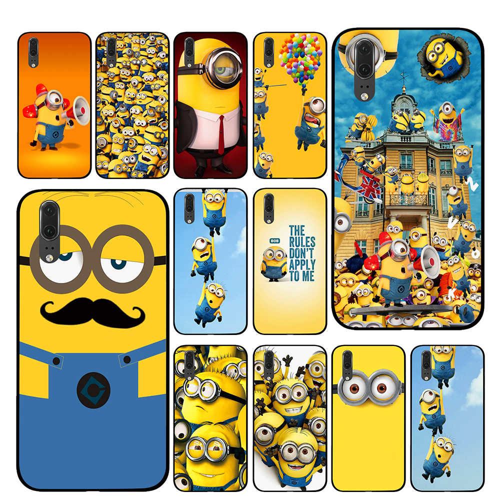 Cute Minions cartoon Cases For Huawei Honor V9 V10 8 9 10 8X 5A 7A 5X Play Lite TPU Cover image