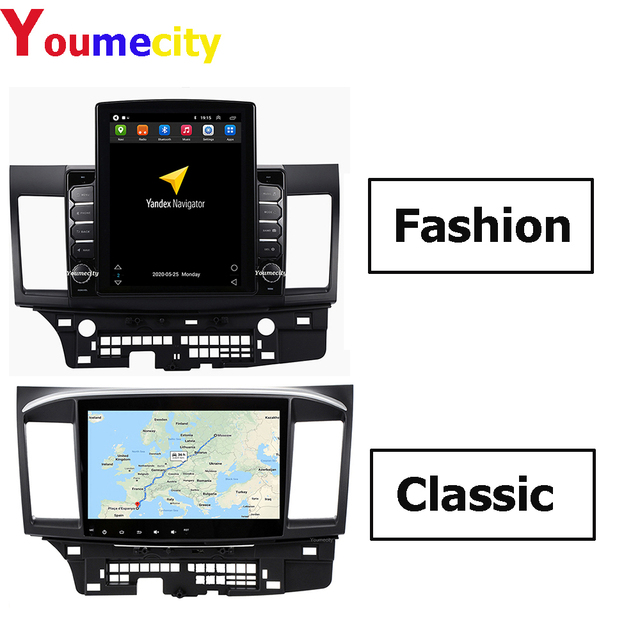 Youmecity Android 9.0 Car DVD Multimedia Player for MITSUBISHI LANCER 2007 2018 9 x 10.1 inch 2DIN Radio headunit Wifi BT RDS