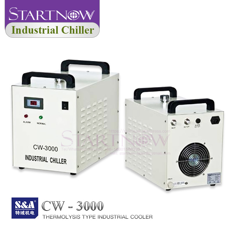 S&A Industrial Water Chiller CW3000 For 110V 220V Laser Cutting Machine CO2 Laser Tube Cooling CNC Spindle CW-3000 Spare Parts